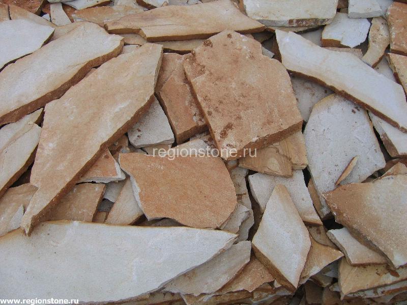 Камень песчаник белый
