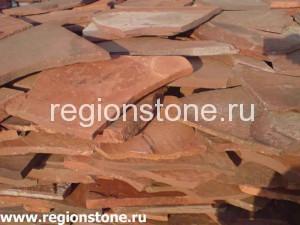 Камень песчаник красный (терракотовый)