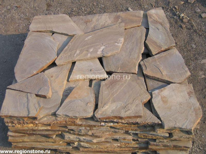 Камень песчаник серо-рыжий